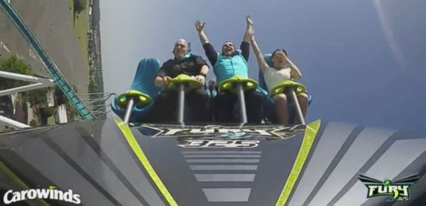 Thrill-Seeking Couple Ties the Knot on 325-Foot Roller Coaster - ABC