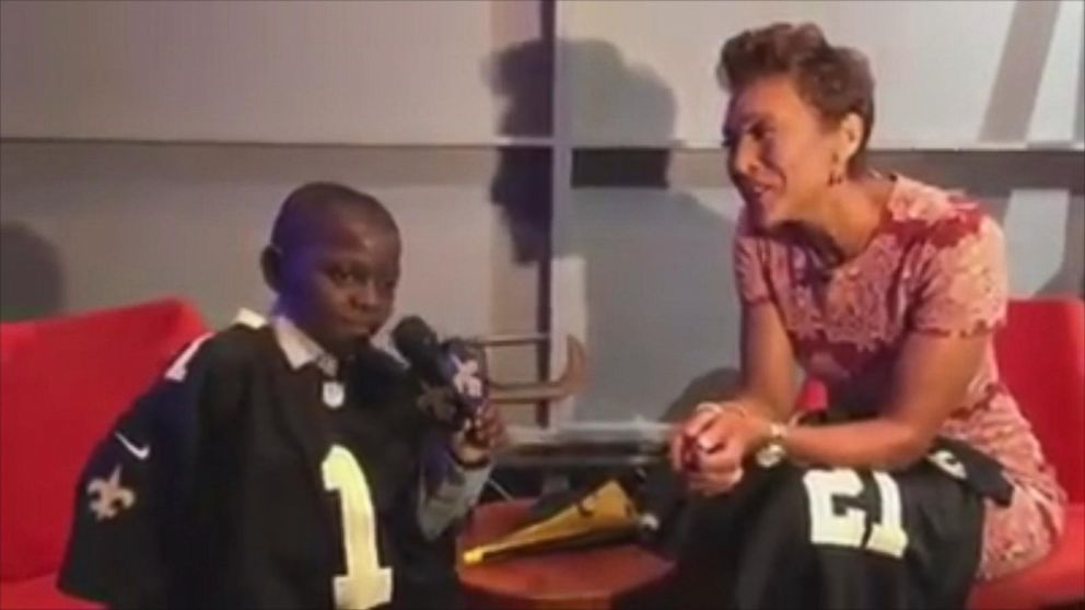 VIDEO: Robin Roberts is Saints Super Fans First Interview as Social Media Reporter