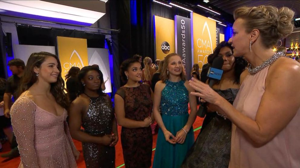 VIDEO: US Gymnastics Final Five Proclaim Love for Carrie Underwood at CMAs