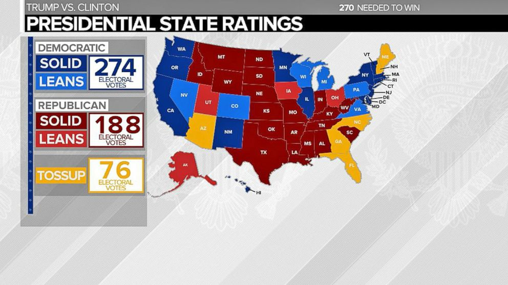 Preview of Potential Electoral College Map Video - ABC News