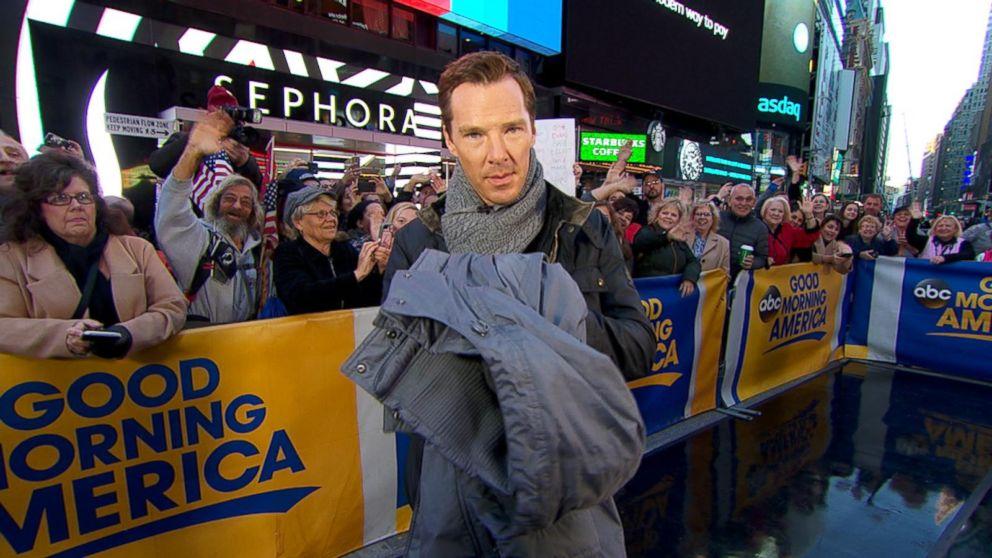 Benedict Cumberbatch Donates Coat to Burlington Coat Drive