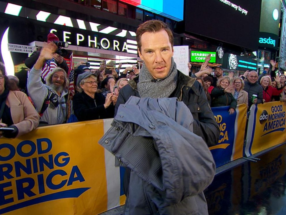 Benedict Cumberbatch Donates Coat to Burlington Coat Drive