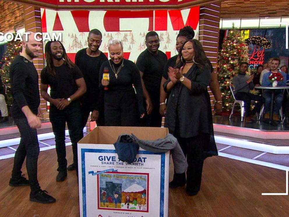 The Fray, Emeli Sandé Donate Coats on 'GMA'