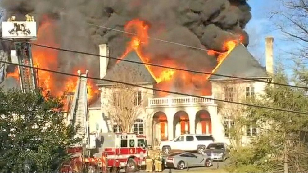 District Of Columbia Area Mansion Engulfed In Flames Video ABC News
