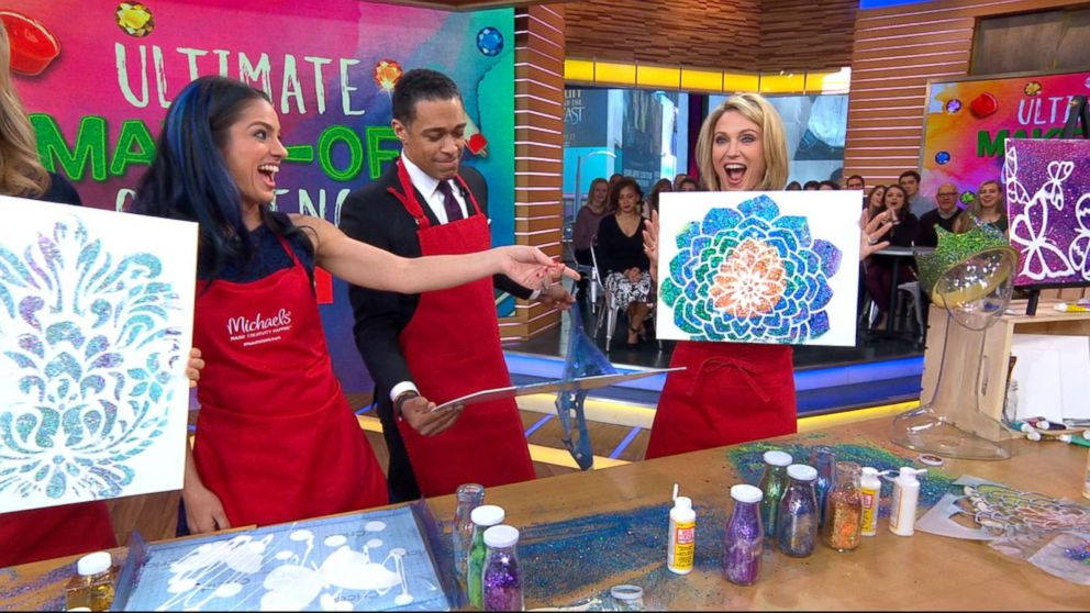 Gma Anchors Compete In A Diy Spring Art Challenge Video Abc News