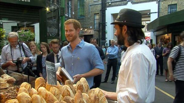 Prince Harry makes surprise visit to Borough Market
