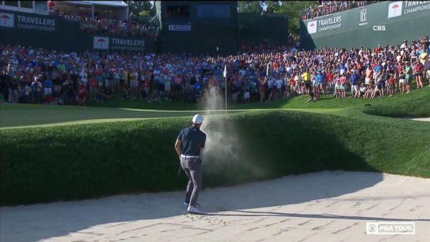 Jordan Spieth wins tournament with dramatic shot