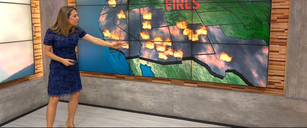 VIDEO: Massive wildfires burn throughout US