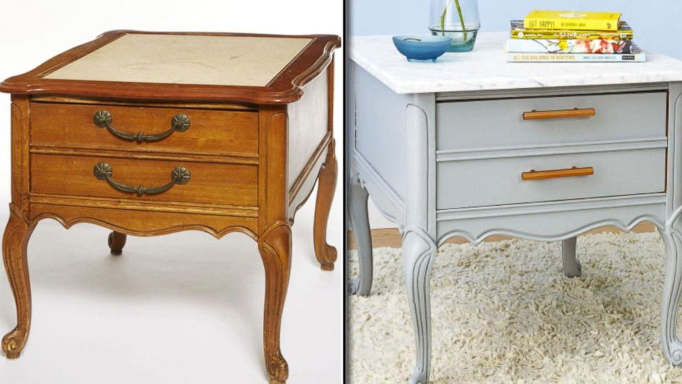 From Trash To Treasure Lara Spencer Revamps Old Furniture Video