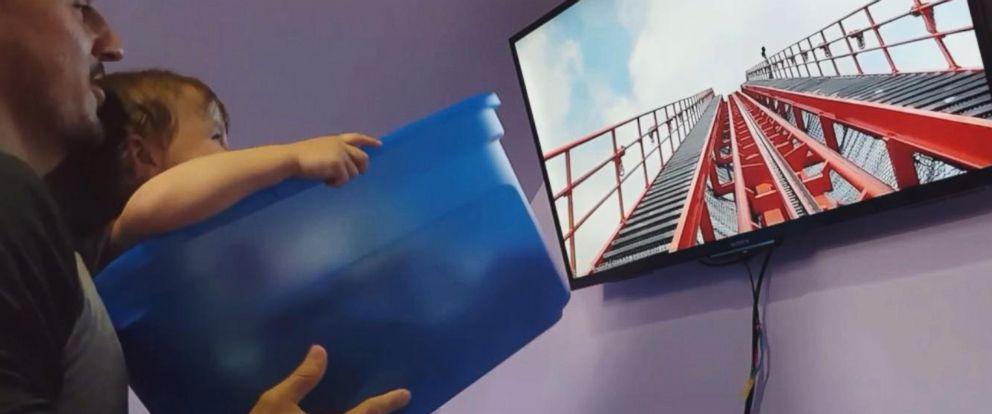 VIDEO: When dad couldnt go to Disneyworld, he creates poor people roller coaster