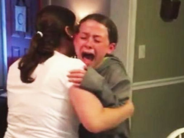 Little Girl Sobs With Joy After Discovering Her Mom Is