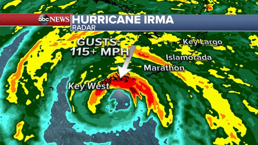 Eye Of Hurricane Irma Reaches Key West Video Abc News