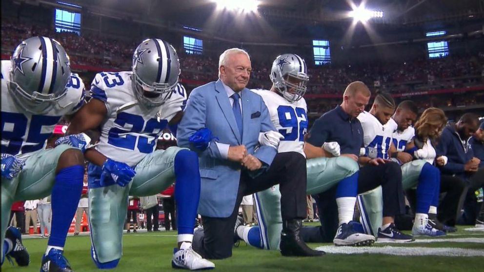 Dallas Cowboys, Jerry Jones take knee before national ...