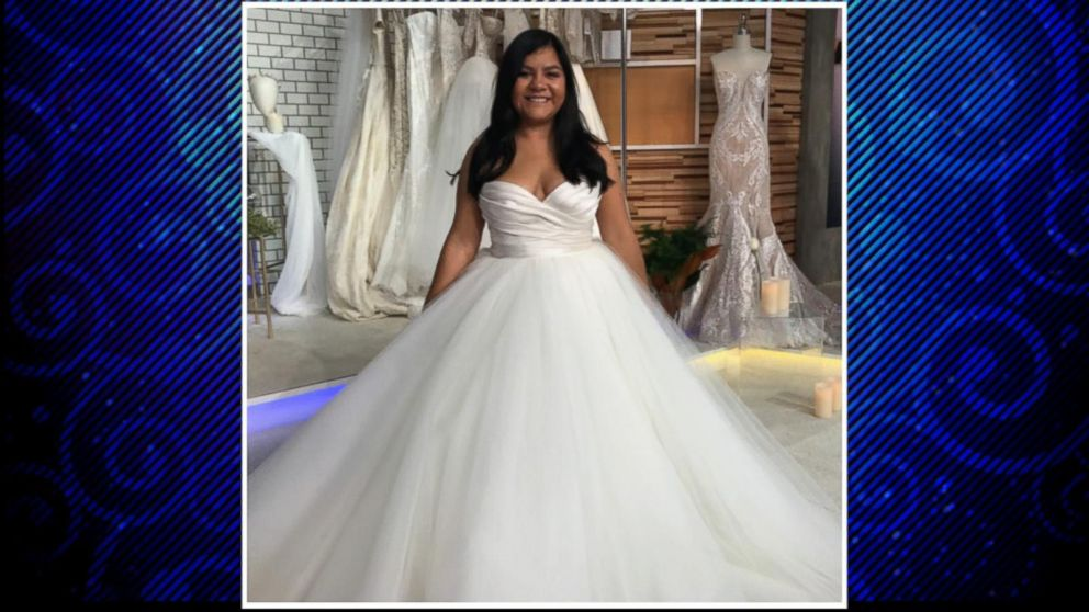 Bride gets dream wedding dress after gown was destroyed in ...