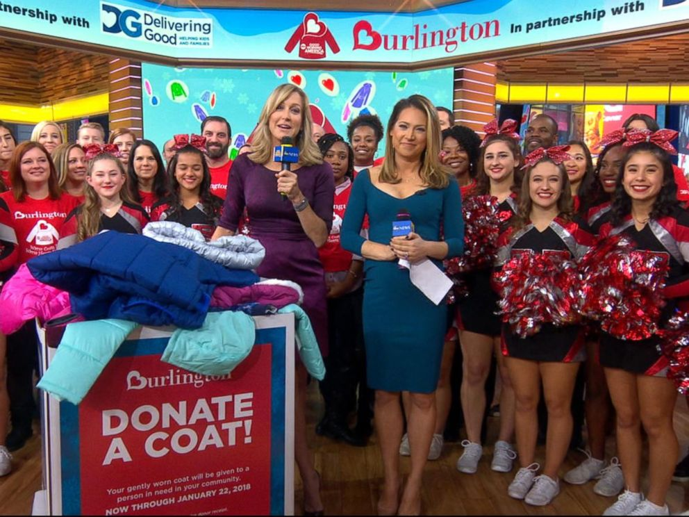 11th annual Burlington Coat Drive kicks off live on 'GMA'