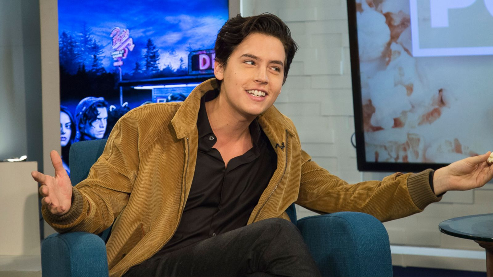 Riverdale  star Cole Sprouse sings  Unforgettable  Video - ABC News 3e3dc972ddb2