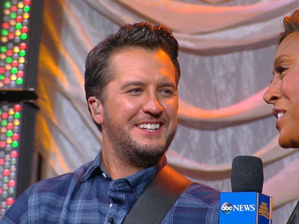 luke bryan loves the holidays with his family on the farm