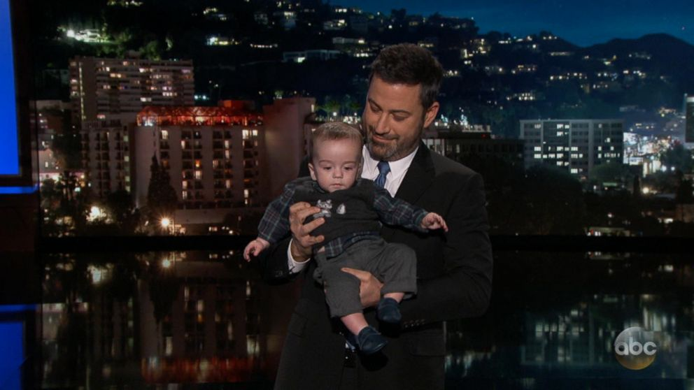 6e5fa75c36ea Jimmy Kimmel reveals why he didn t want to get  too close  to son ...