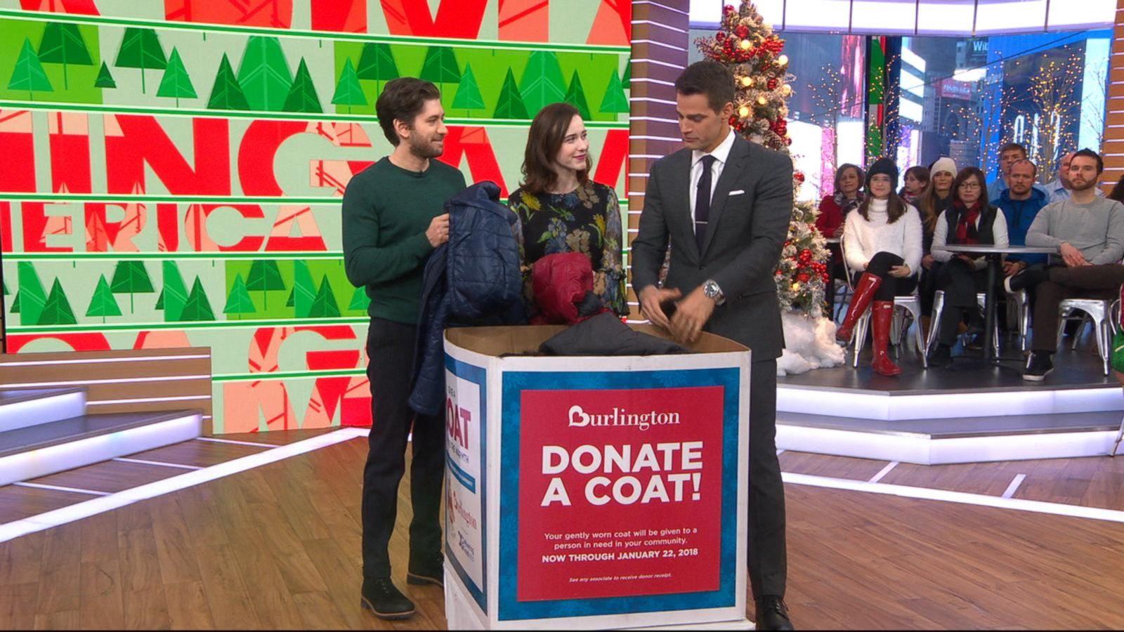 'The Marvelous Mrs. Maisel' stars donate coats for Burlington Coat Drive