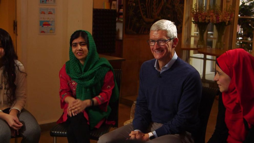 Appleu0027s Tim Cook And Malala Team Up To Fight For Girlsu0027 Education Video    ABC News  Tim Cook Resume