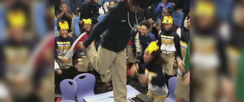 VIDEO: Students erupt into dancing after finding out theyre going to see Black Panther