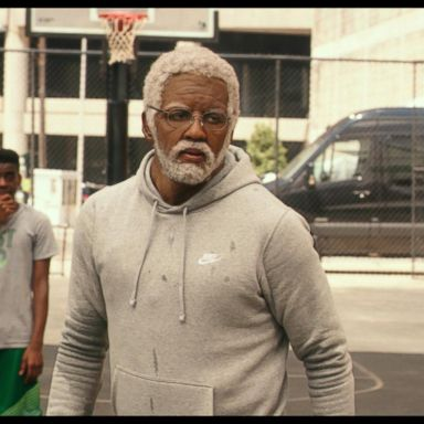 de03d0aa05a Shaq and Kyrie Irving dish on  Uncle Drew  live on  GMA