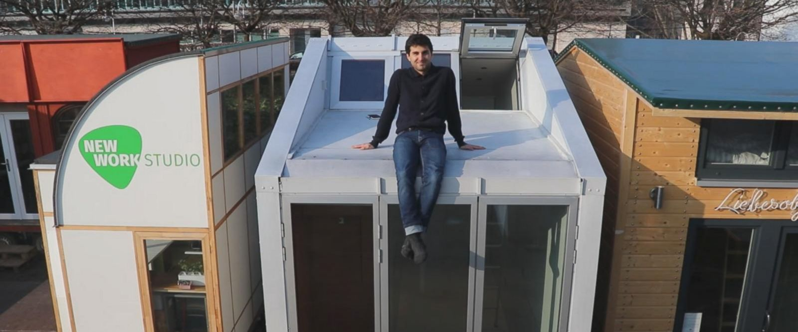 Architect Leonardo Di Chiara, 27, hopes to bring tiny living to big cities.