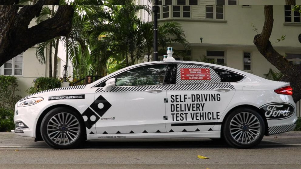 Ford and Domino's test self-driving delivery cars