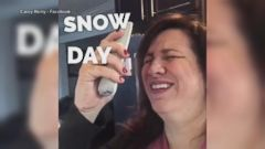VIDEO: How moms really feel on a school snow day