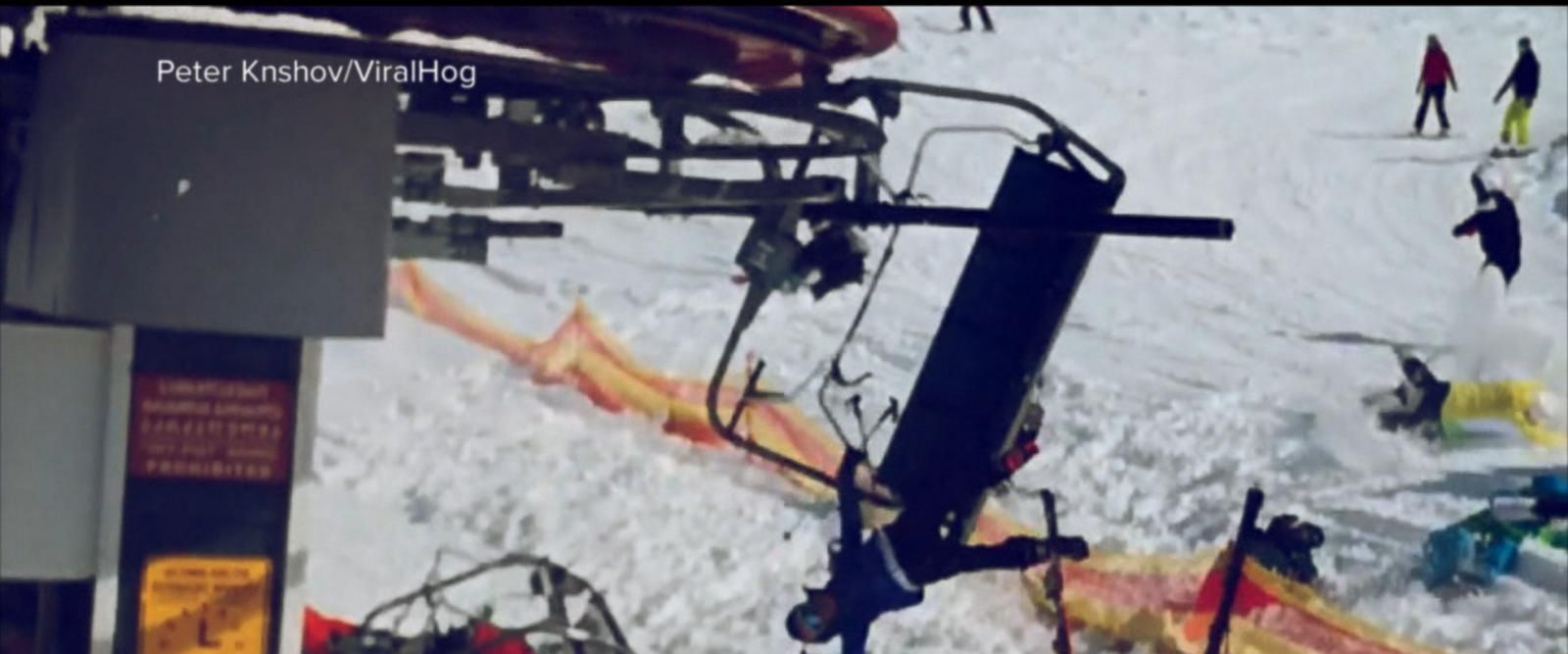 VIDEO: Skiers tossed from malfunctioning chairlift