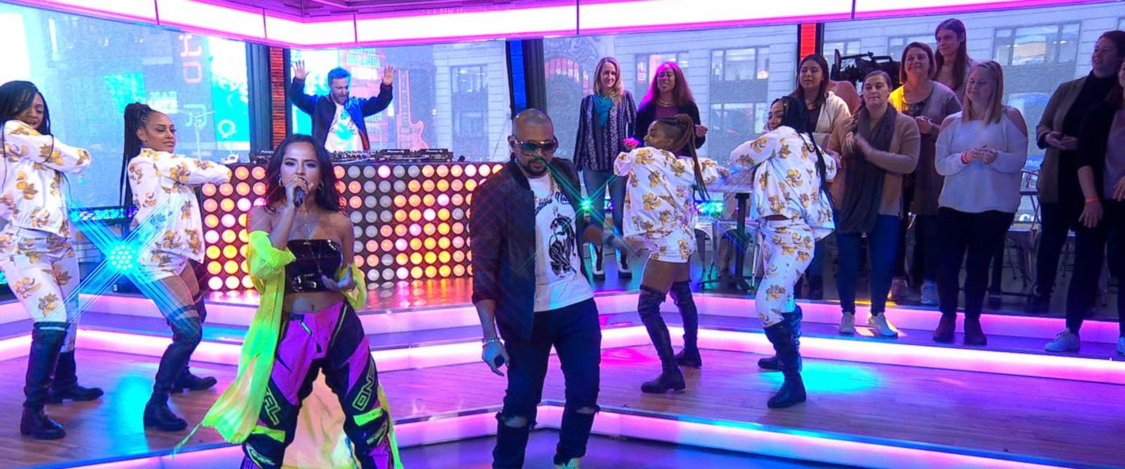 VIDEO: Sean Paul, David Guetta and Becky G perform 'Mad Love' live on 'GMA'