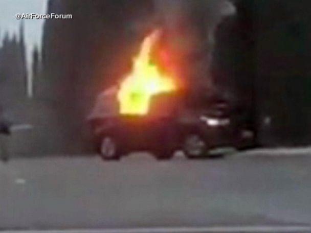 WATCH:  Vehicle bursts through gates at California Air Force base