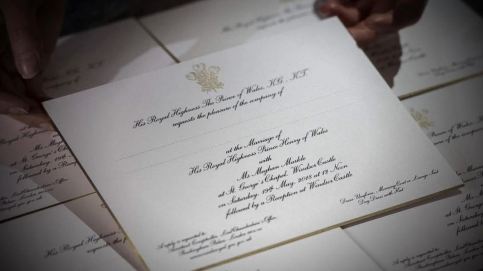 1st look at the gilded royal wedding invitations Video - ABC News