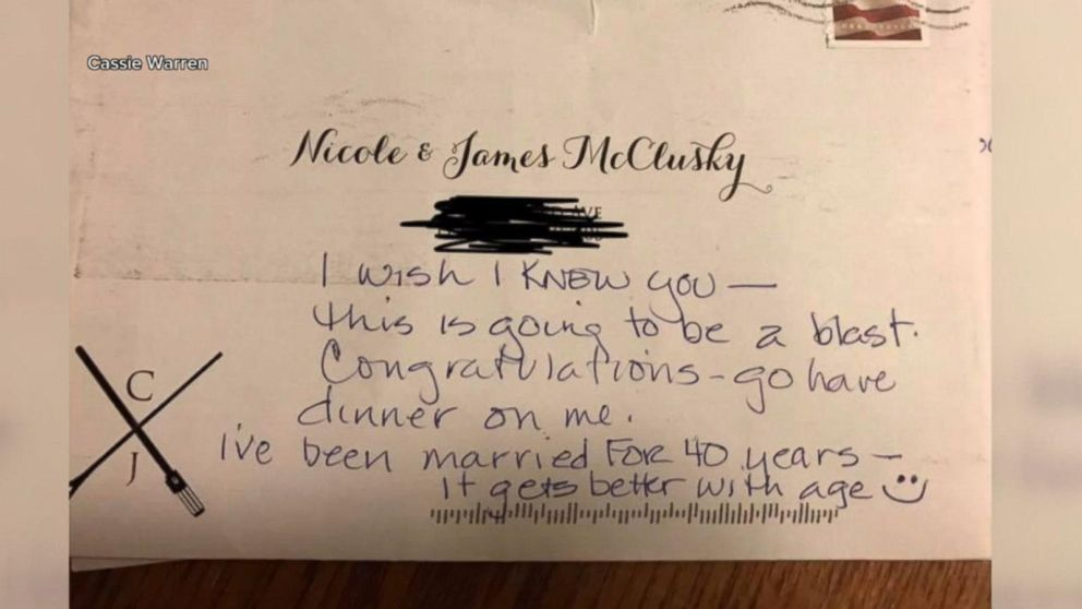 Wedding Thank You Note.Couple Writes Pre Wedding Thank You Note To Stranger Who Returned Their Invite
