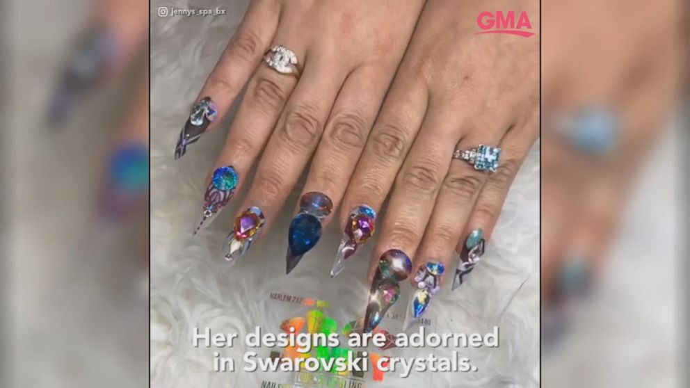 Meet the woman behind Cardi B\'s \'blinged\' out manicure Video - ABC News
