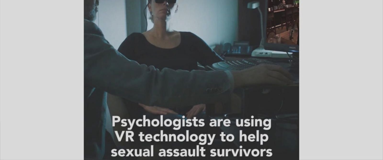 """For rape victims, the idea is that in therapy we need to help people confront their fears, and one way is that we have to go places where we don't go normally,"" Dr. Stéphane Bouchard said."