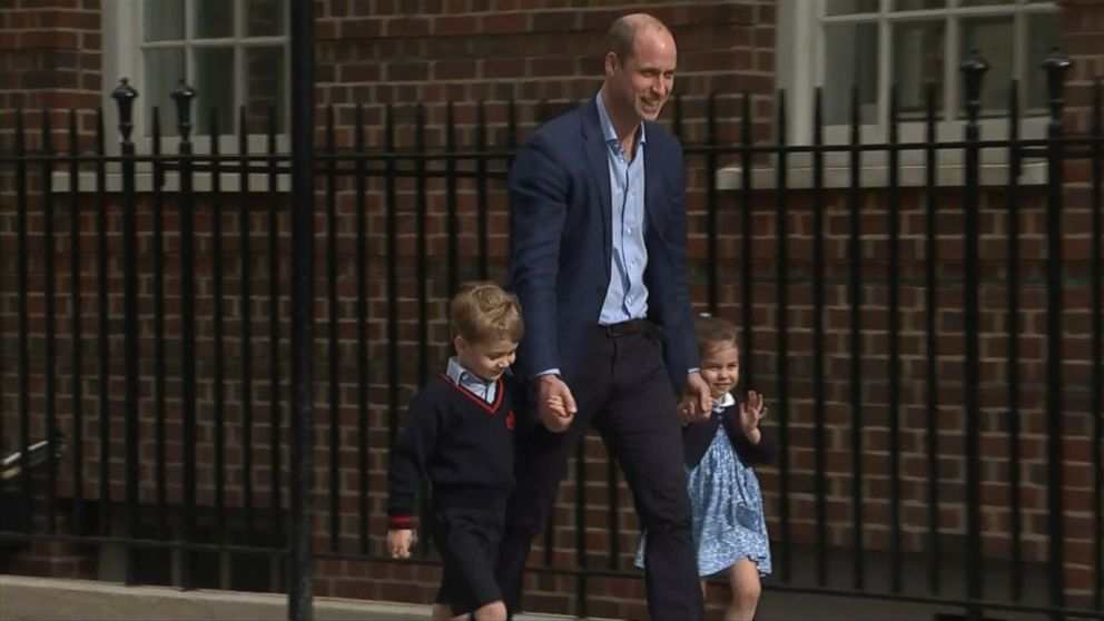 VIDEO: George, who turns 5 in July, and Charlotte, who turns 3 next week, were brought to St. Marys Hospital in London by their father, Prince William.