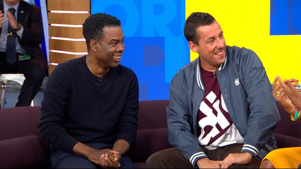 Adam Sandler, in 1st time as host, brings on Chris Rock to sing about being fired from 'SNL'