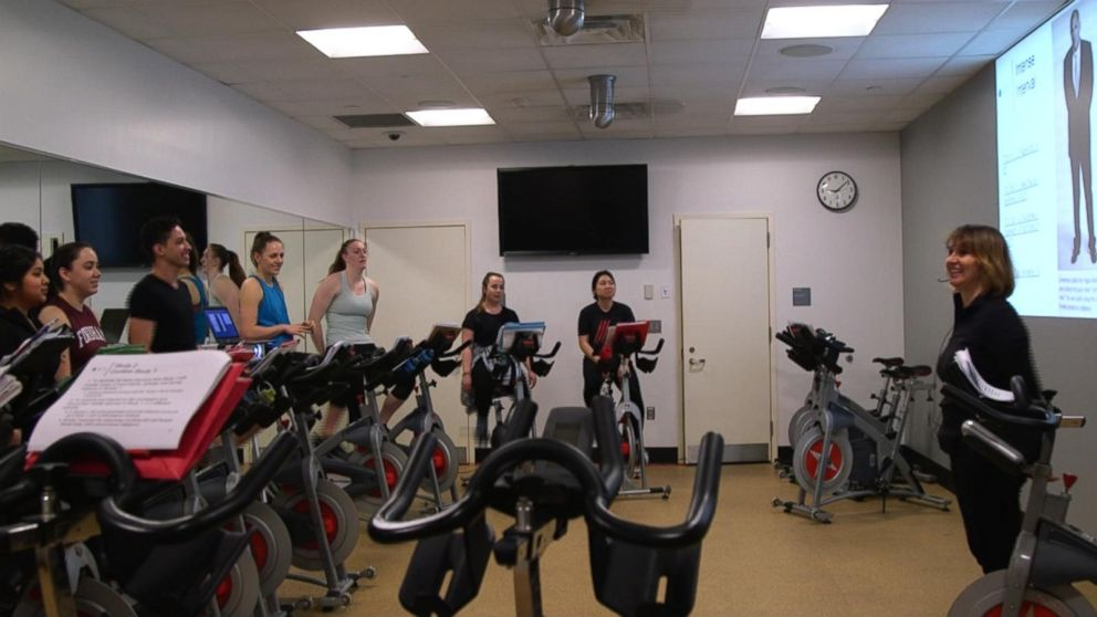 VIDEO: College offers a business class on spin bikes