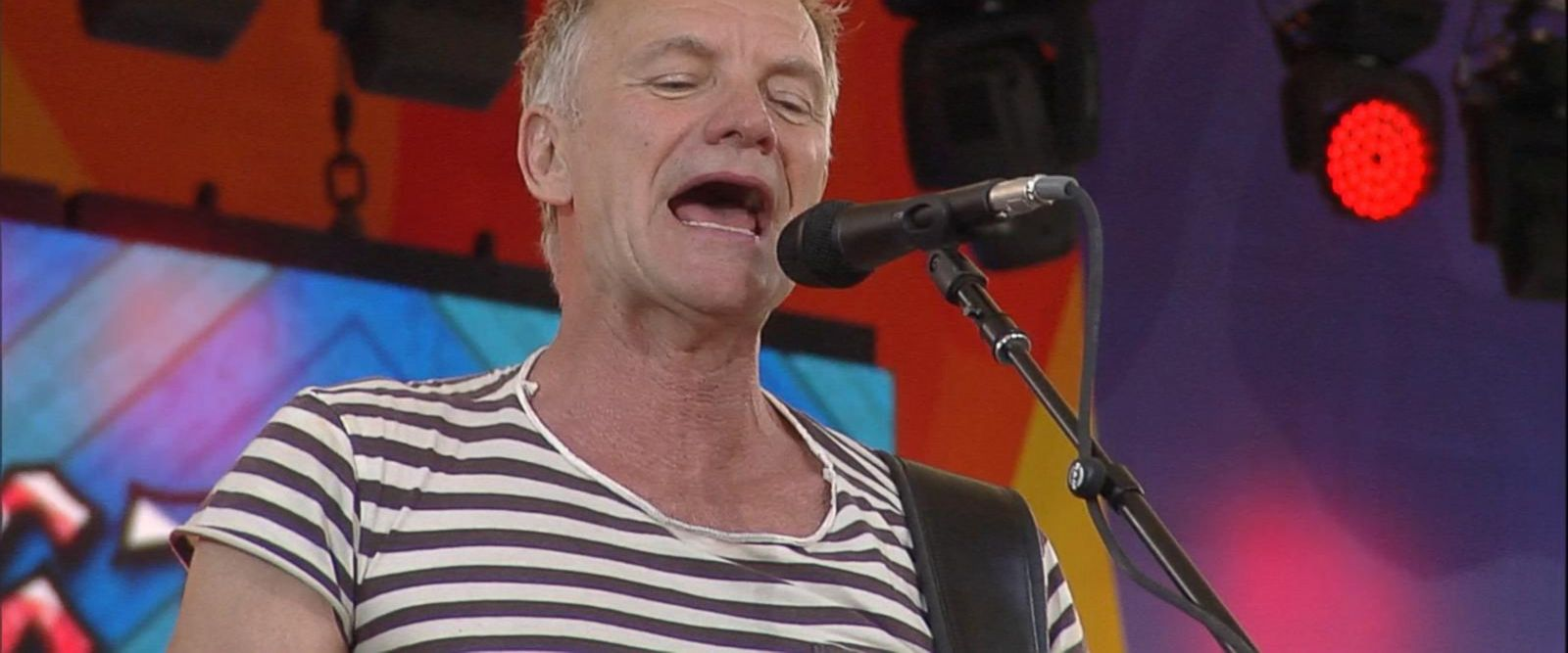 VIDEO: Sting and Shaggy rock out Central Park with the hit song 'Roxanne'