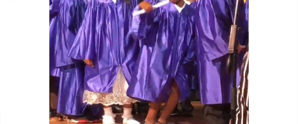 5 year old s dance moves steals the show at pre k graduation abc news