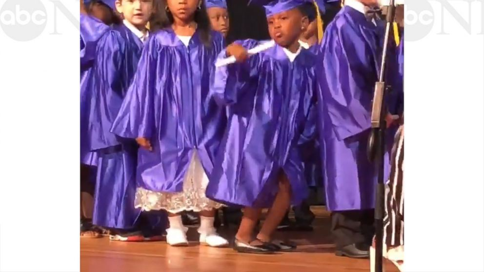 ce099c79e4 5-year-old s dance moves steals the show at pre-K graduation