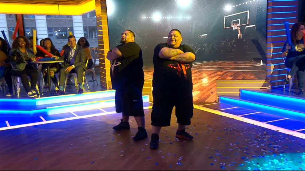 Superfans compete in an NBA finals dance-off