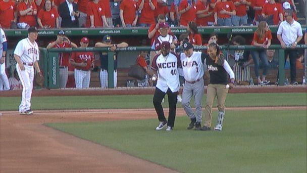 Congressman makes play on anniversary of baseball shooting