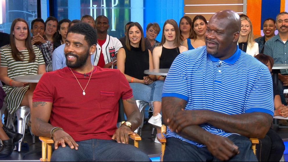 2ae1249102c VIDEO  Shaq and Kyrie Irving dish on  Uncle Drew  live ...