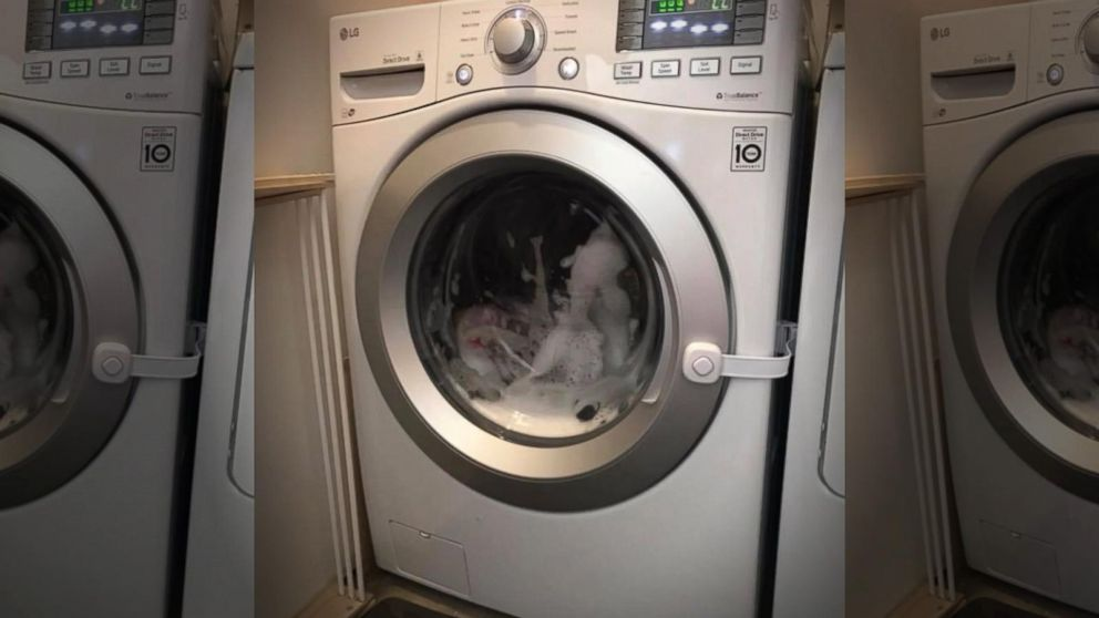 VIDEO: Parents say toddler got stuck in washing machine