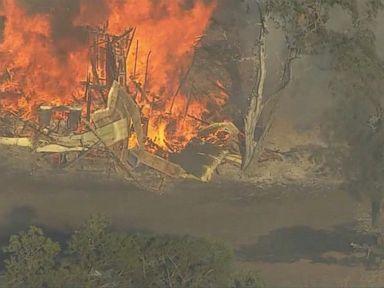WATCH:  Wildfires spread in Oregon, California