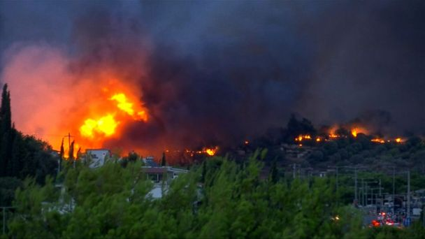 Wildfires a 'biblical disaster': Greek official