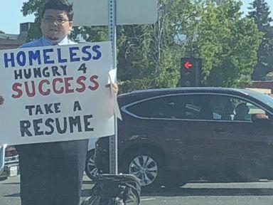 WATCH: Homeless man receives hundreds of job interviews after tweet