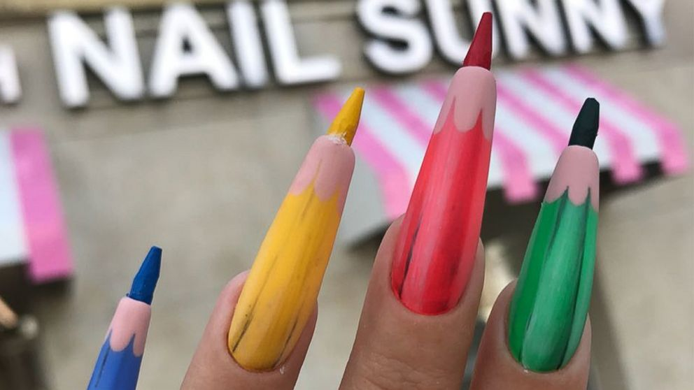 VIDEO: Colored pencil nails are the craziest back-to-school look we didn't ask for